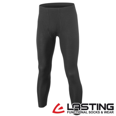 【LASTING捷克】男款羊毛抗菌除臭透氣舒適內著保暖長褲LT-JWP黑