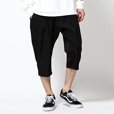彈性7分褲素色格紋(7色) ZIP日本男裝