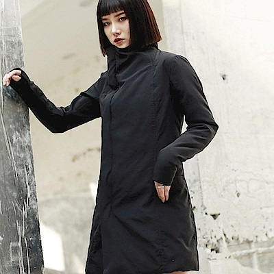 暗黑風RO修身薄版棉衣棉服外套-設計所在