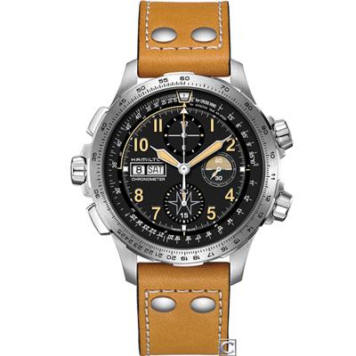 Hamilton  Khaki X-Wind御風者自動計時腕錶(H77796535)