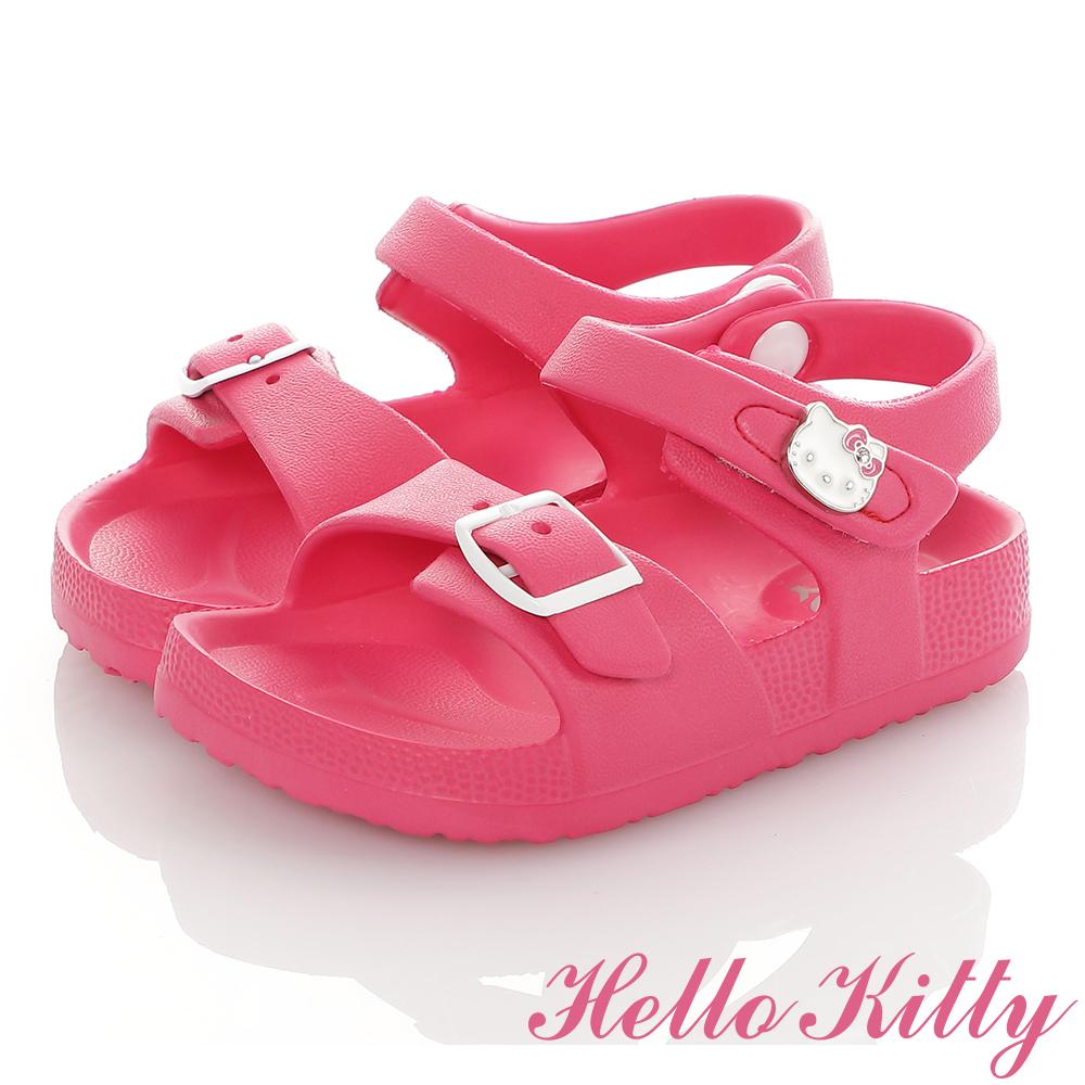 HelloKitty童鞋 極輕量吸震腳床型休閒涼鞋-桃