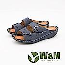 W&M 簍空鑲鑽厚底拖鞋 女鞋-藍(另有黑)