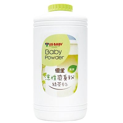 任選-優生涼性爽身粉-綠茶香氛300g