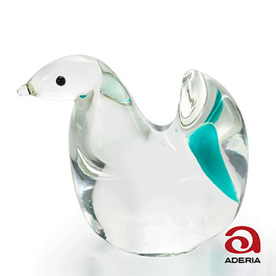 日本Aderia 手作玻璃幸運生肖擺飾-巳(蛇)