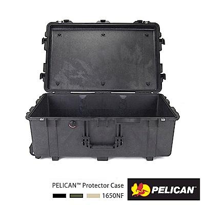 美國 PELICAN 1650 輪座拉桿氣密箱-空箱(黑)