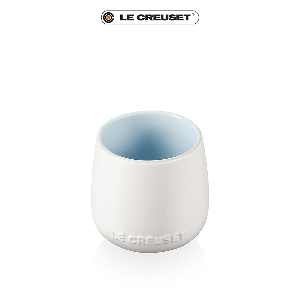 [任4件6折] LE CREUSET瓷器花蕾系列馬克杯250ml-棉花白/海岸藍