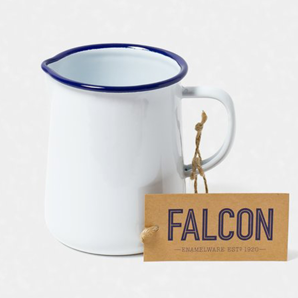 Falcon 獵鷹琺瑯 琺瑯1品脫冷水壺 586ml 藍白