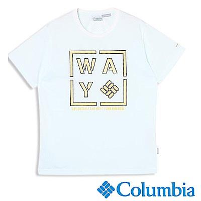 Columbia 哥倫比亞 男款-日版涼感快排防曬上衣-白色UPM44630