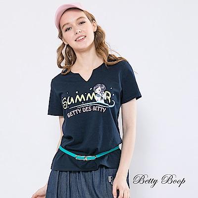 Betty Boop貝蒂 小V開襟summer膠印柔棉上衣(共兩色)