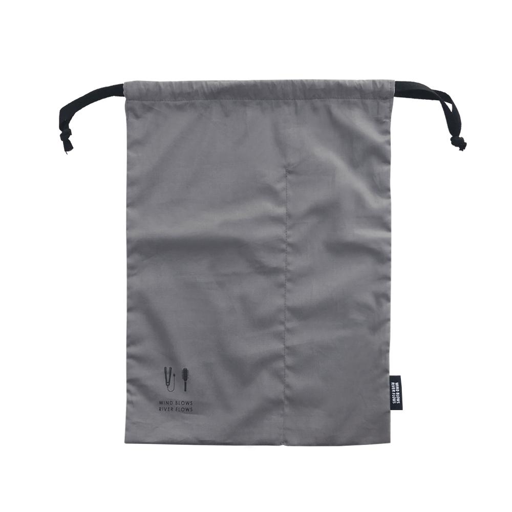 ICONIC 旅行分隔束口袋-妝髮用品-炭灰