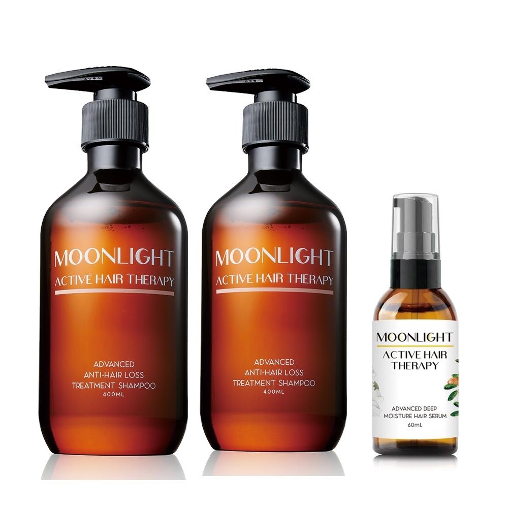 (加贈護髮油) Moonlight 莯光 進化版頭皮保養洗髮精 400 ml x2 (贈送花萃深層護髮精華油60mL)