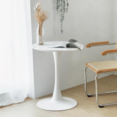 完美主義 簡約純白圓形小茶几/餐桌/圓桌/咖啡桌/茶几桌-60x60