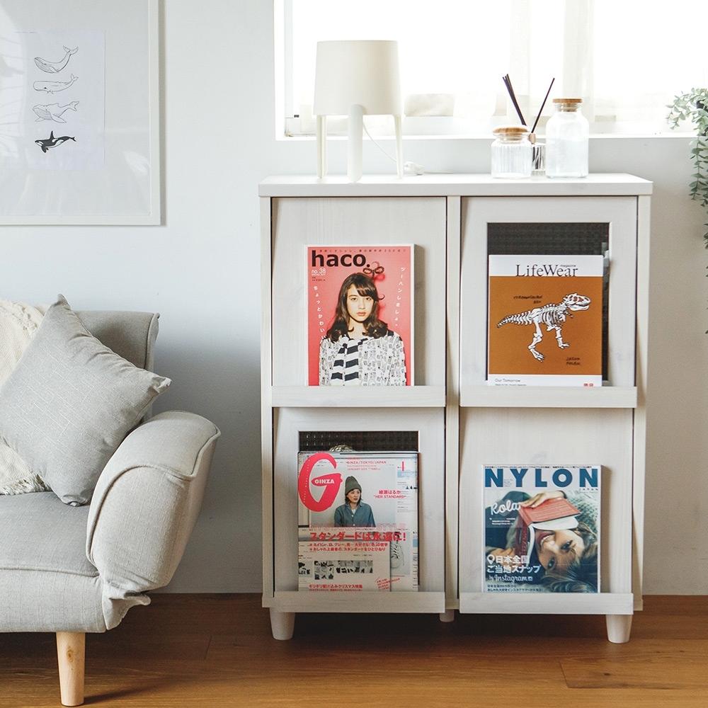 完美主義 掀蓋式四門書櫃/收納櫃/書報雜誌櫃/廚房櫃(4色) product image 1