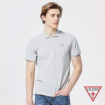 GUESS-男裝-經典簡約純色Polo衫-灰 原價1890