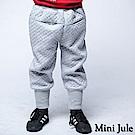 Mini Jule 褲子 滿版菱形鬆緊縮口厚棉長褲(灰)