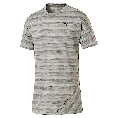 PUMA-男性慢跑系列Thermo-R+短袖T恤-淺麻花灰-歐規