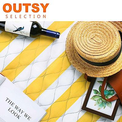 【OUTSY嚴選】巨大特厚鋪棉野餐墊/帳篷地墊歐式條紋-陽光練習曲 (隧道帳適用)