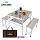 LIFECODE 尊爵鋁合金折疊桌椅(含桌下網)-橡木紋(含桌下網+背袋) product thumbnail 2