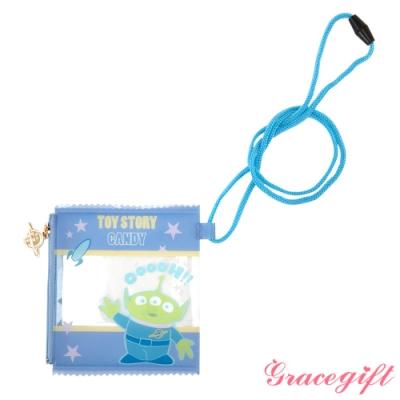 Disney collection by Gracegift玩具總動員透明萬用包 藍