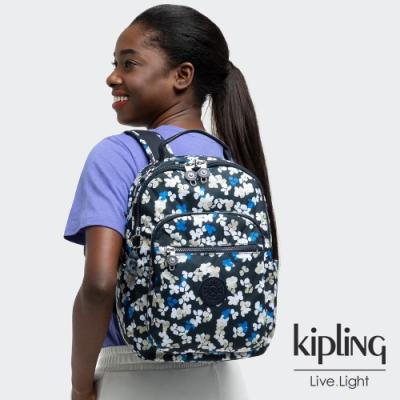 Kipling 清新手繪碎花機能手提後背包-SEOUL S