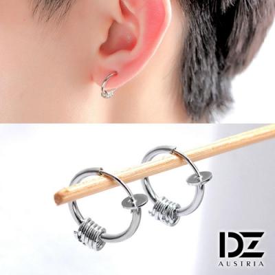 DZ 多圈環垂墜 316L白鋼C圈耳環(銀系)