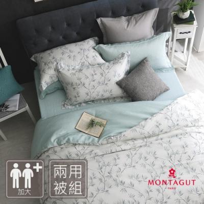 MONTAGUT-清脆的微風-300織紗萊賽爾纖維-天絲-兩用被床包組(加大)