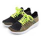 G.Ms. MIT極輕量系列-綿線織布綁帶記憶鞋墊運動休閒鞋-黑綠