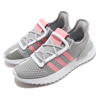 adidas 慢跑鞋 U Path Run C 襪套式 童鞋 愛迪達 運動休閒 球鞋穿搭 中童 灰 粉 EG9126