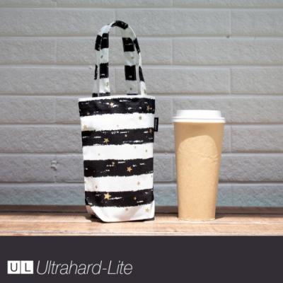 Ultrahard-Lite togo環保飲料袋(長版) - 條紋星星(黑)