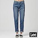 Lee 中腰合身小直筒牛仔褲/DC-409-中藍色洗水
