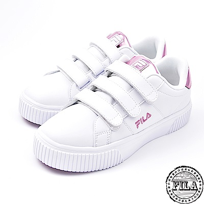 FILA女款韓版  厚底黏扣鞋 休閒鞋 5-C601S-510