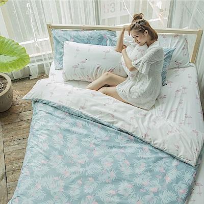 BUHO 雙人三件式床包枕套組(月島詩光-白)