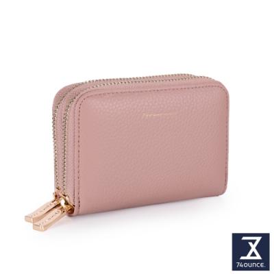 74盎司 Tender Lady 真皮防RFID雙層卡片零錢包[LN-765-TE-W]粉紅