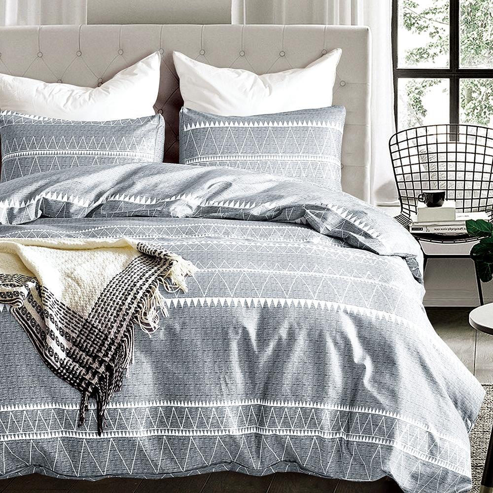 Goelia 天南星 親膚舒柔活性印染超細纖雙人床包枕套三件組