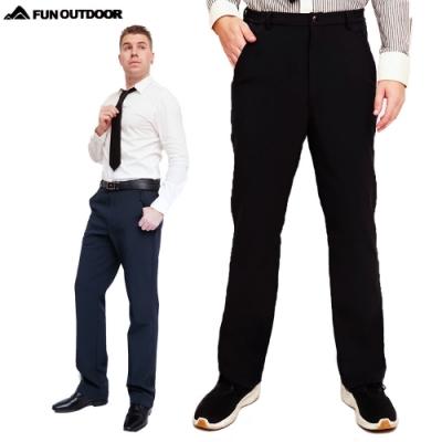 【戶外趣】男款超彈多口袋抓絨禦寒防風防潑水軟殼保暖褲(HMP015 兩色可選)