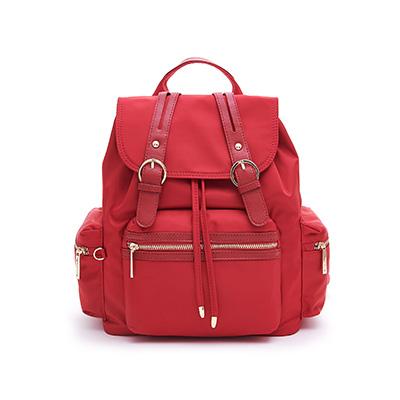 B.S.D.S冰山袋鼠-微醺小調x簡約訂製款大容量後背包-薔薇紅