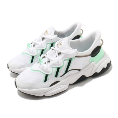 adidas 休閒鞋 Ozweego W 運動 女鞋 愛迪達 輕量 舒適 簡約 球鞋穿搭 白 綠 FZ3779