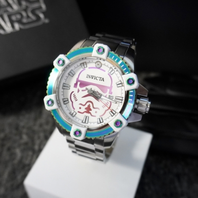 INVICTA 英威塔 Star Wars星際大戰限定版 (暴風冰軍團) 彩虹圈 機械錶
