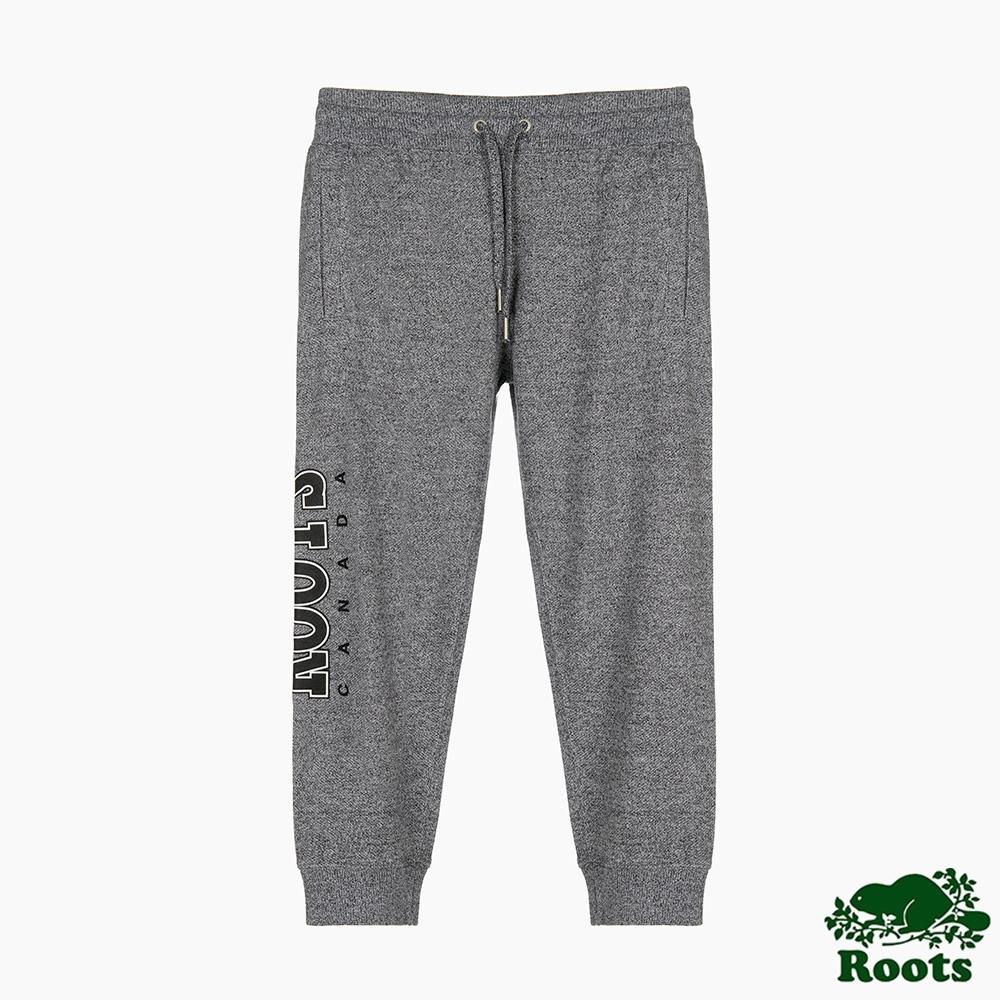 Roots 女裝- 復古翻玩系列 毛圈布休閒棉褲-灰色