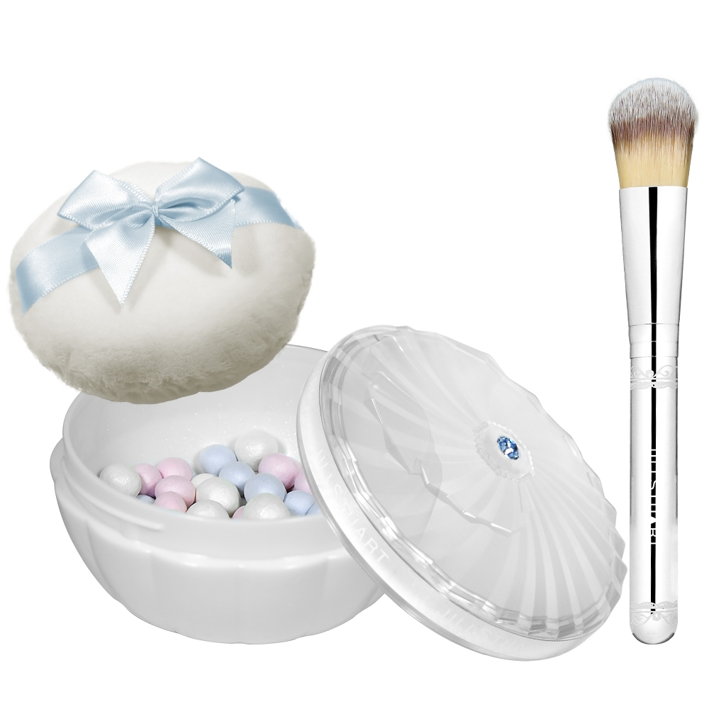 JILL STUART 吉麗絲朵 雪紡晶透蜜粉球(湛藍復刻)(35g)+刷具
