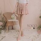 東京著衣-YOCO古典浪漫蕾絲雕花綁帶褲裙-S.M.L(共三色)