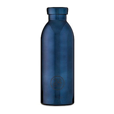 義大利 24Bottles不鏽鋼雙層保溫瓶500ml-黑金