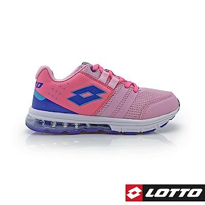 LOTTO 義大利 童 SWIFT RUN 氣墊跑鞋 (粉)