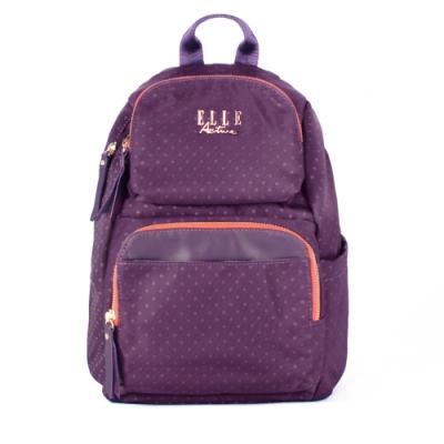 ELLE Active 自由展翼系列-防盜 後背包-中-紫色