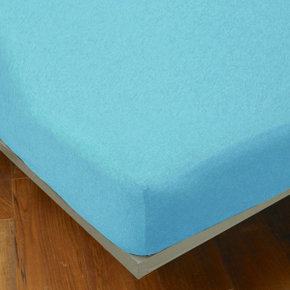 Yvonne Collection 加大純棉麻花床包-淺藍綠