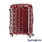 Samsonite新秀麗 24吋Theoni 3D花卉圖案可擴充硬殼行李箱(紅)