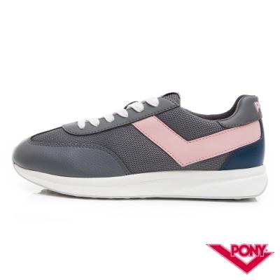 【PONY】Montreal 甜蜜配色復古運動鞋 慢跑鞋 休閒鞋-女鞋-鐵灰色