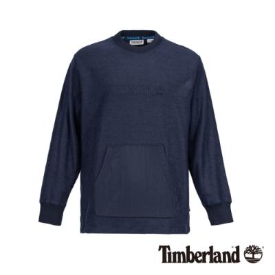 Timberland 男款深寶石藍保暖刷毛大學T|A28Q6