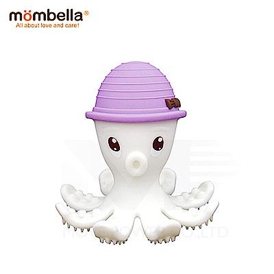 【任選】英國《mombella 》樂咬咬章魚固齒器(紫色)