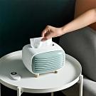 EZlife北歐復古收音機紙巾盒(2入)贈雙層無痕拖鞋架
